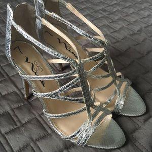 Nina Silver Gladiator Heels